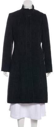 Nicole Miller Alpaca-Blend Long Coat