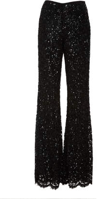 Michael Kors Embroidered Side Zip Flare Pant