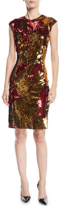 Naeem Khan NK32 Two-Tone Sequin Dress