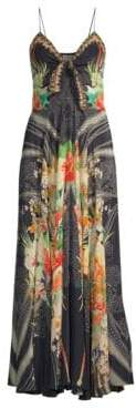 Camilla Floral-Print Silk Maxi Dress
