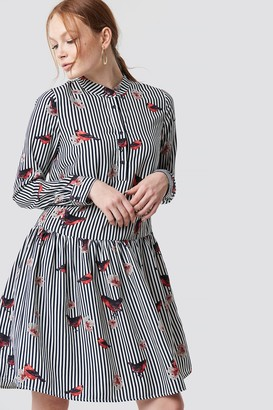 Rut & Circle Rut&Circle Flower Stripe Dress Stripe