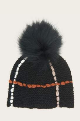 Frye Broken Stripe Pom Hat