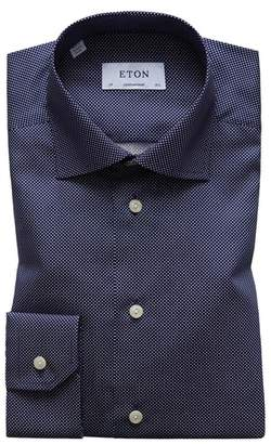 Eton Contemporary Fit Signature Polka Dot Dress Shirt