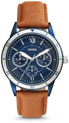 Fossil Flynn Sport Multifuntion Brown Leather Watch