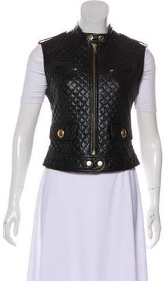 Dolce & Gabbana Leather Quilted Vest