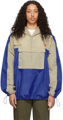 MAISON KITSUNÉ Blue and Tan ADER error Edition Quick Fox Jacket