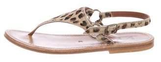 K Jacques St Tropez Ponyhair Thong Sandals