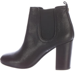 Tory BurchTory Burch Round-Toe Leather Ankle Boots