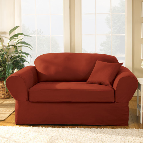 Sure Fit Twill Supreme Loveseat Slipcover