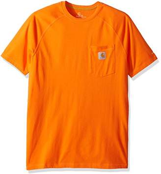 Carhartt Men's Force Cotton Delmont Short Sleeve T-Shirt Relaxed Fit