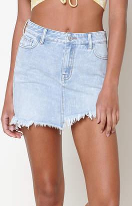 Pacsun Asymmetrical Frayed Hem Skirt