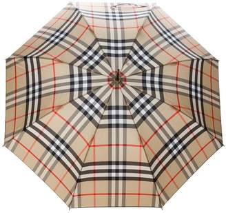 Burberry Giant Exploded Check Walking Umbrella