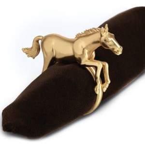 L'OBJET Goldplated Horse Napkin Ring