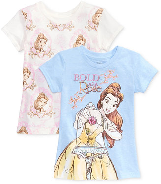 Disney's® Beauty and the Beast 2-Pk. Graphic-Print T-Shirt Set, Toddler & Little Girls (2T-6X) $28 thestylecure.com