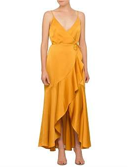 Shona Joy Oro Wrap Midi Dress