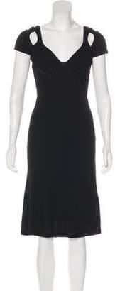 Zac Posen Short Sleeve Knee-Length Dress