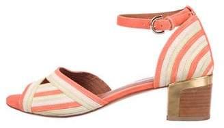 Rebecca Minkoff Striped Suede Sandals