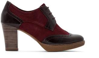 Tamaris Fee Leather Heeled Brogues