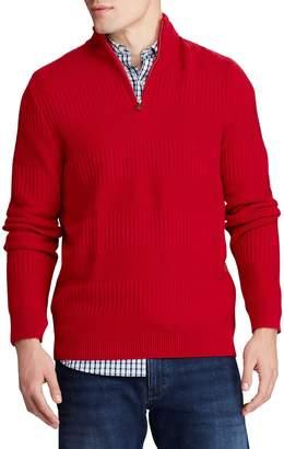 Chaps Big Tall Cotton-Blend Mock Neck Sweater