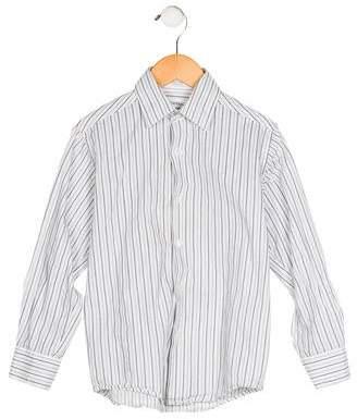Calvin Klein Boys' Striped Button-Up Shirt