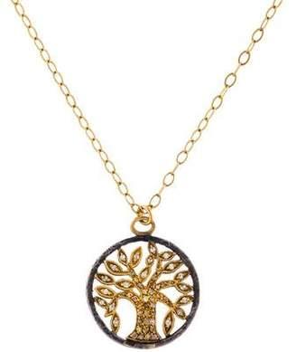 Sara Weinstock Diamond Tree Pendant Necklace