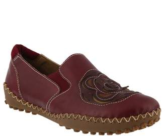 Spring Step L'Artiste by Leather Slip-On Shoes- Sandee