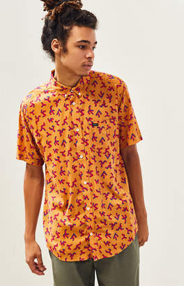 RVCA Slappy Print Short Sleeve Button Up Shirt