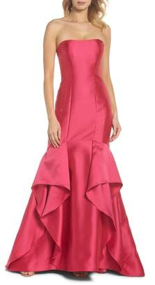 Adrianna Papell Strapless Mikado Gown