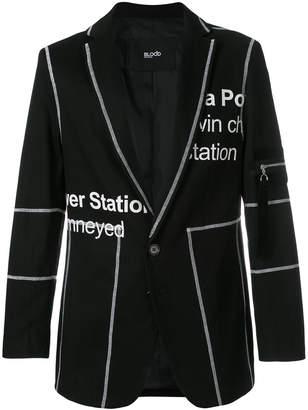 Blood Brother Penton printed blazer
