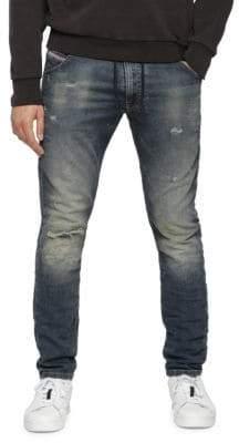 Diesel Krooley Cb-Ne Distressed Skinny Drawstring Jeans
