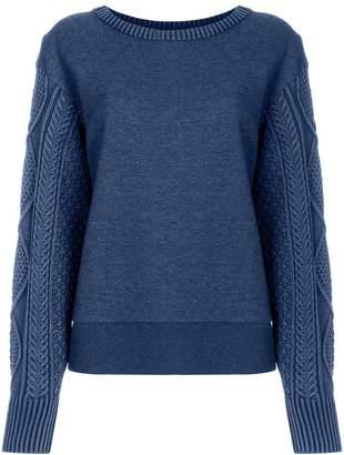 Rag & Bone knitted panel sweatshirt