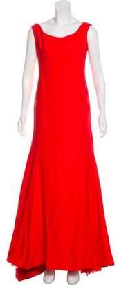 Lela Rose Sleeveless Bateau-Neck Gown