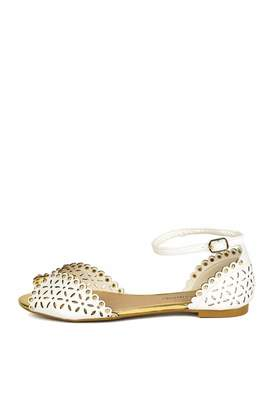 City Classified Perforated Studded Sandal