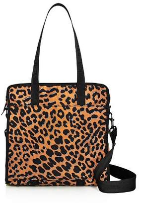 Le Sport Sac Gabrielle Medium Leopard-Print Nylon Box Tote