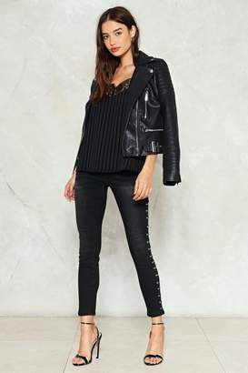 Nasty Gal Stud Up For Yourself Skinny Jeans