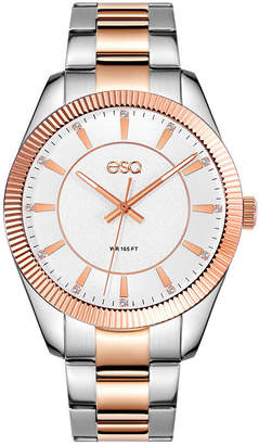 ESQ Men's ESQ0155 Two-Tone Stainless Steel Bracelet Watch, Crystal Accent Dial