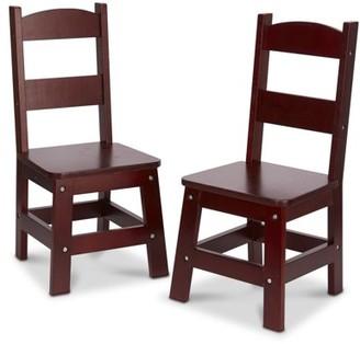 Melissa & Doug Kids Wooden Chair Pair, Multiple Colors