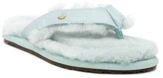 Australia Luxe Collective Genuine Shearling Thong Sandal