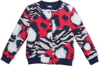 Kenzo Reversible Baseball-Collar Jacket, Size 14-16