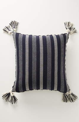 Anthropologie Ramona Stripe Tassel Accent Pillow