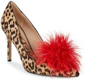 Sam Edelman Haide Dyed Calf Hair & Feather Pump