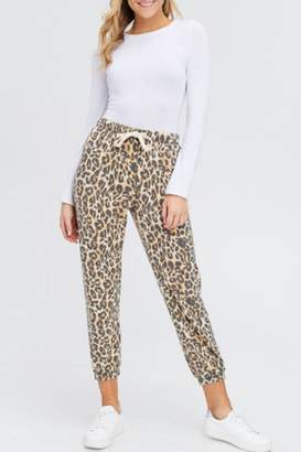 Maronie Brushed Leopard Joggers