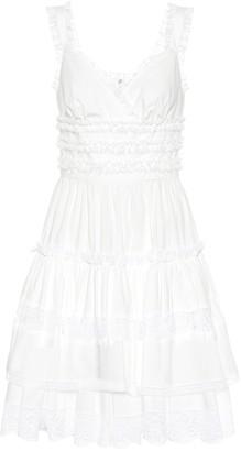 Dolce & Gabbana Lace-trimmed cotton minidress