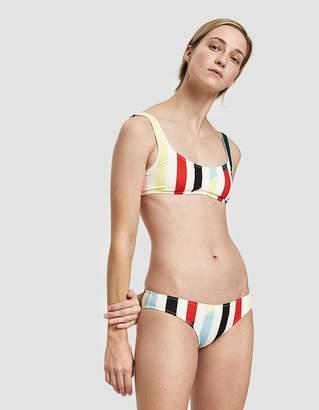 Solid & Striped The Elle Swim Bottom in Split Stripe
