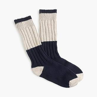 J.Crew Colorblock camp socks