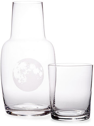 One Kings Lane Asst. of 2 Full Moon Carafe & Glass - Clear