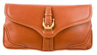 Cece Cord Leather Flap Clutch