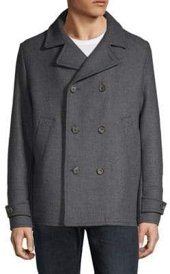 Paul & Shark Double-Breasted Woven Coat