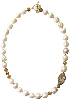 Farra - Freshwater Edison Pearls & Crystal Necklace