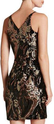 Dress the Population Jordyn Sequin-Wave Mini Dress